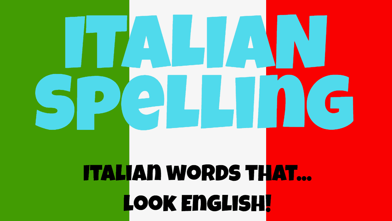 English In Italian: Italian Words That… Look English