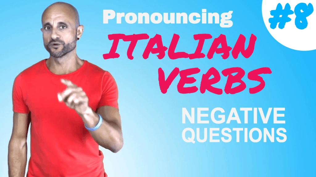 pronouncing italian verbs