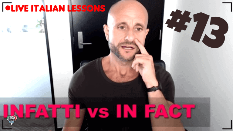 ADVANCED ITALIAN: INFATTI vs IN FACT