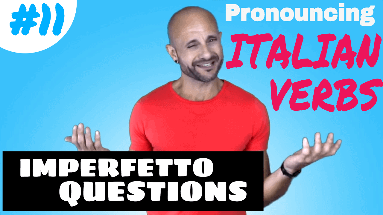 Italian Verbs: pronouncing imperfetto questions Comprare
