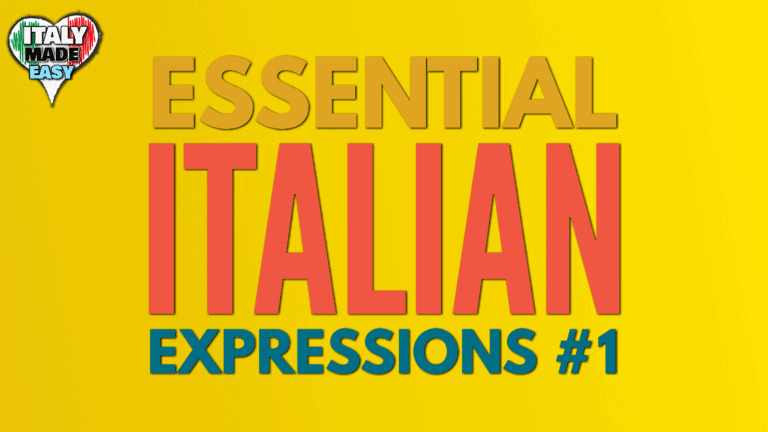 Essential Italian Expressions 1