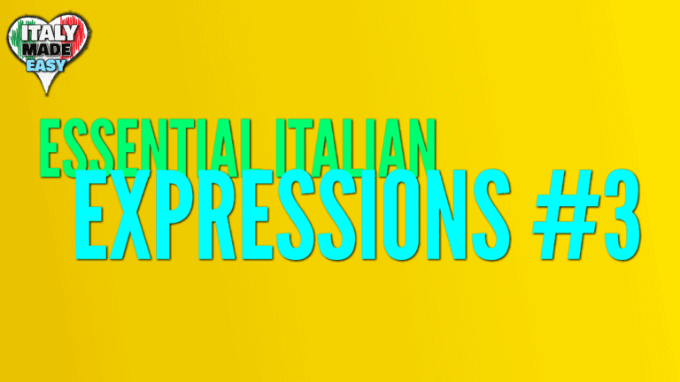 Essential Italian Expressions 3