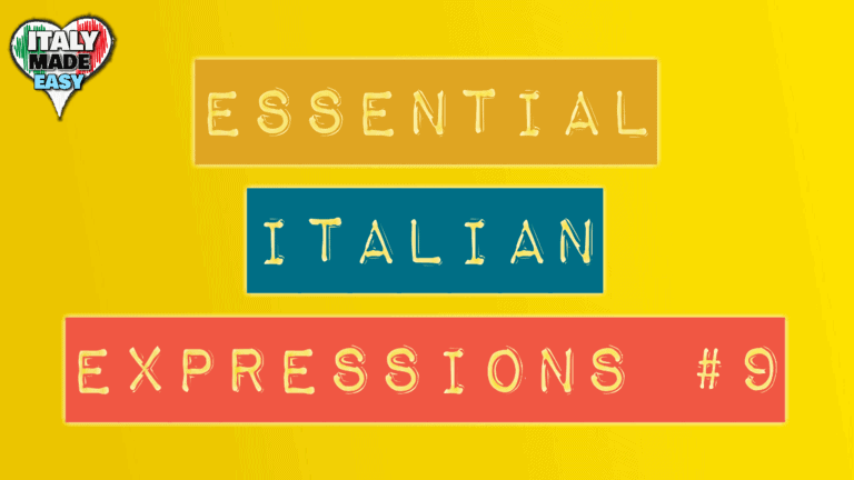 Essential Italian Expressions 9