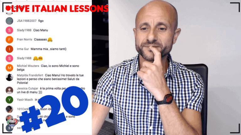 live italian Lesson 20