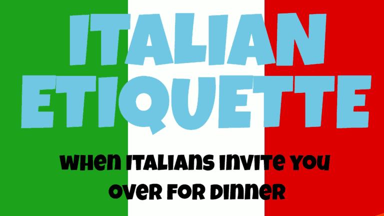 Italian Etiquette