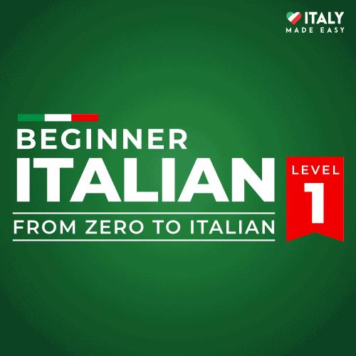 Beginner Italian Level 1
