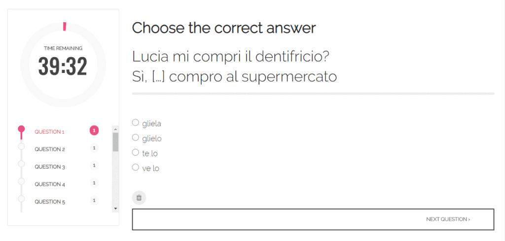 Italian Course Quiz