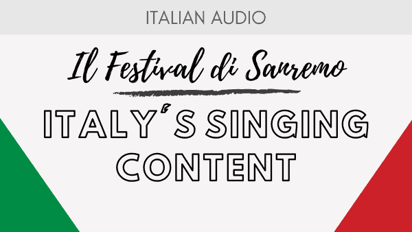 Italy's singing content