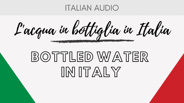 Bottled water in Italy