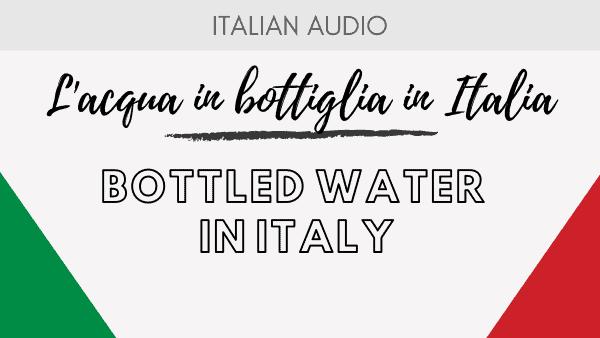 Bottled water in Italy