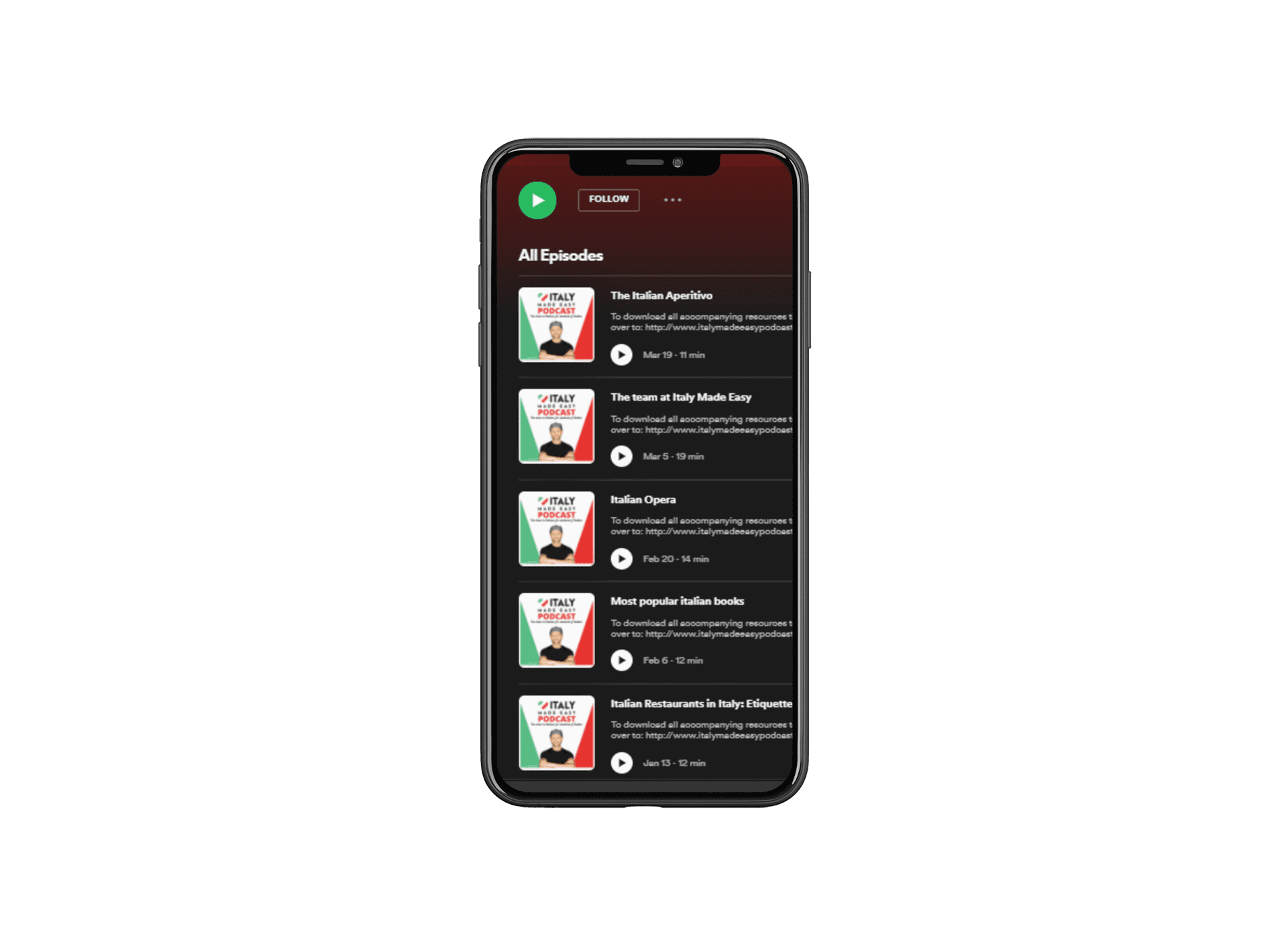 Podcast mobile mockup