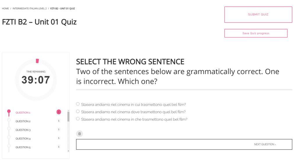 Quiz Screenshot